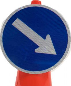 Pedestrian keep right cone