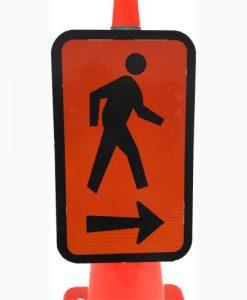 Pedestrian keep right cone