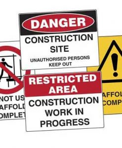 Road Construction Site Signs