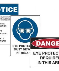 Eye Safety Signs