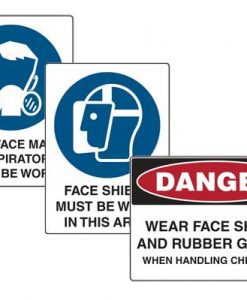 Face Protections Signs
